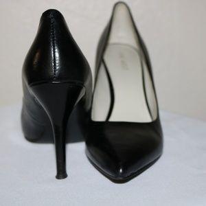 Classic black leather pumps